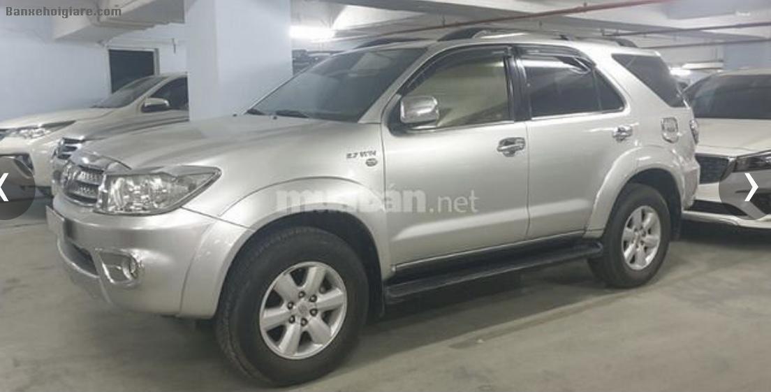 Bán xe Fortuner 2.7 AT, màu bạc, sản xuất 2010, đăng ký lần đầu 2011,