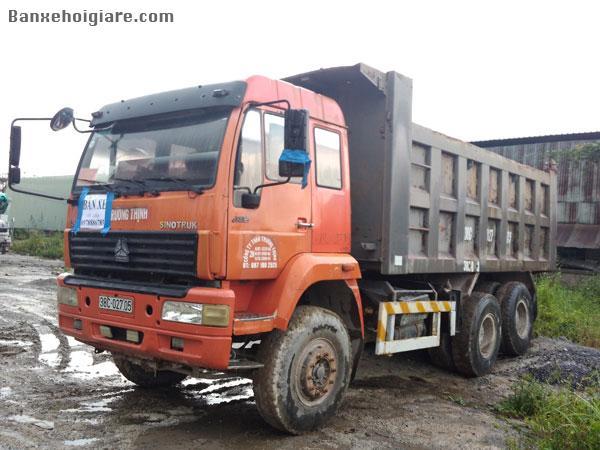 Bán xe tải Ben 3 chân trowo 2010, kích thước thùng xe: 5.4 x 1.5 x 2.5m