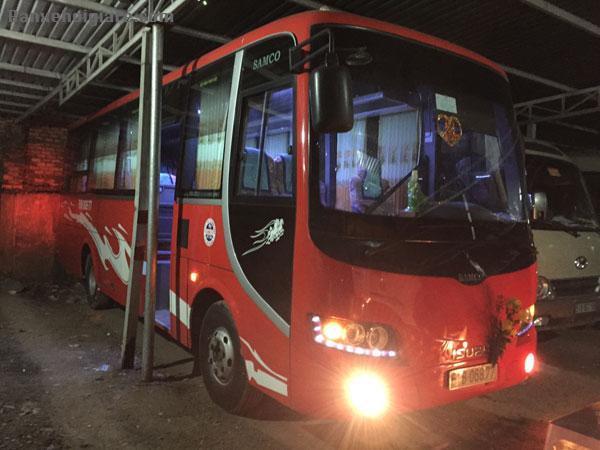 Cần bán xe SAMCO 29 chỗ , màu đỏ ,tháng 10/2012